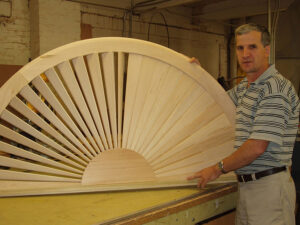 Custom Plantation Shutters Before Finish is Applied