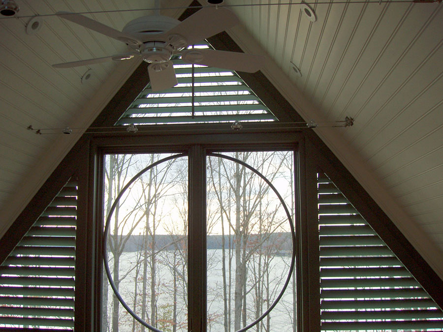 Triangular Panels Around Circle of Life Window