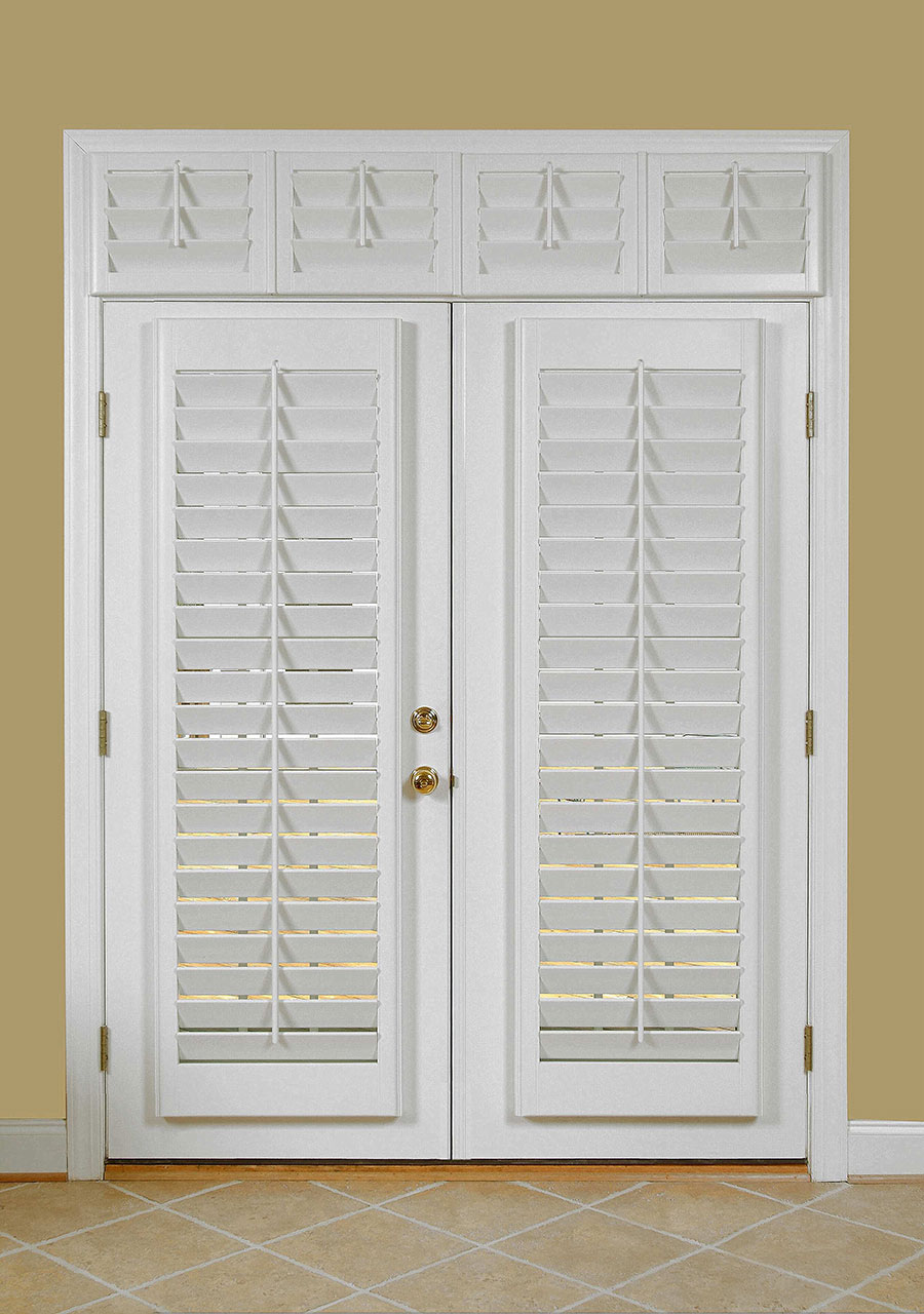 French Door Shadow Box With Covered Transom