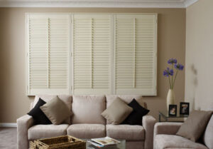 closed plantation shutters